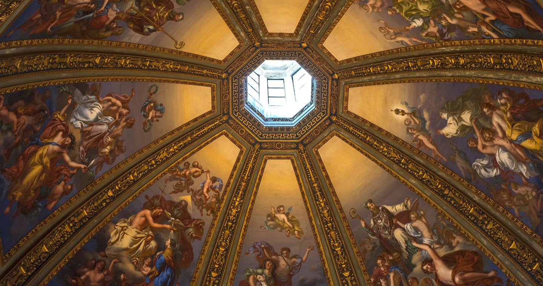 Cupola dall'interno del Tempio Civico dell'Incoronata, Lodi.