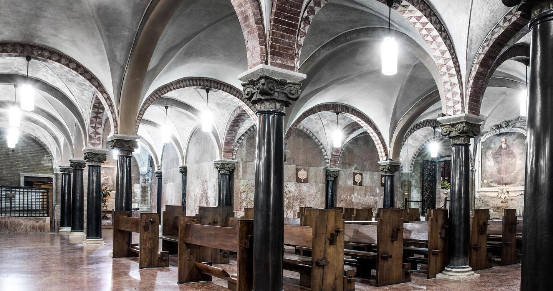 La cripta, la parte più antica del Duomo di Lodi.