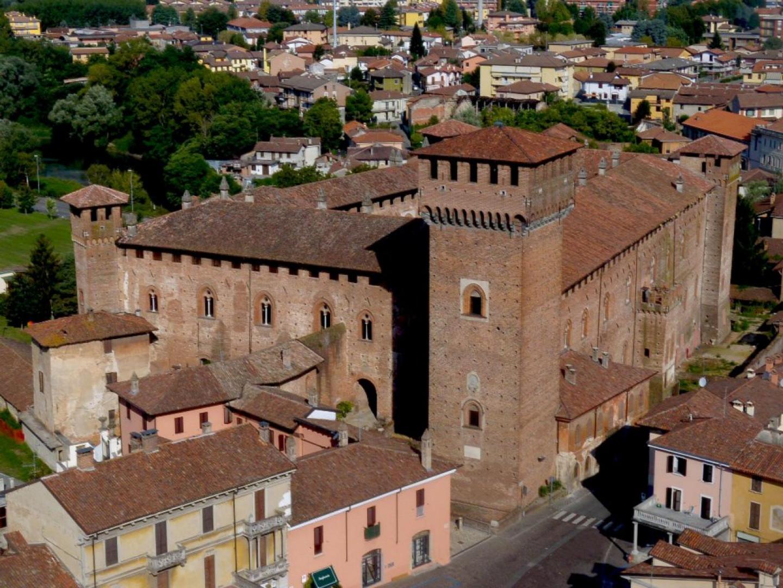 Castello Morando Bolognini vista dall'alto